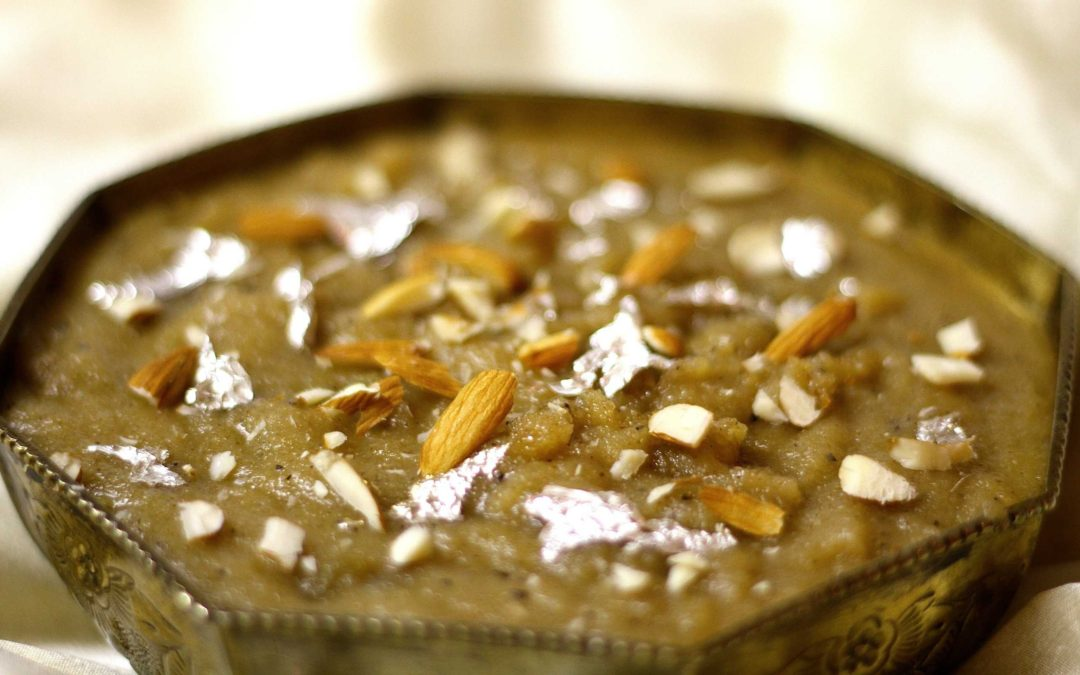 Indian Sweet Semolina Cardamom Pudding (Suji Halwa)