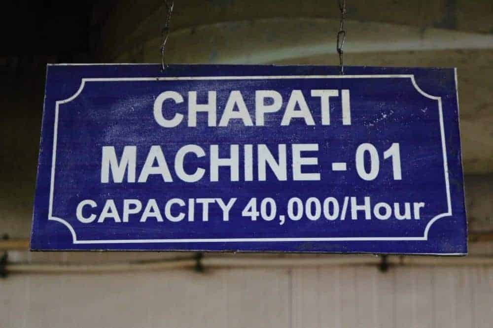 40,000 Chapatis/Hour